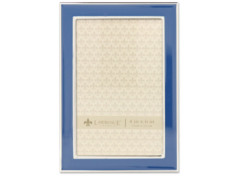 Lawrence 4x6 Navy Blue Enamel Picture Frame