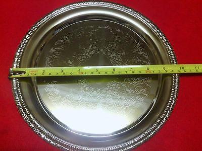 Decrative CIRCLE Food Serving Platter-Nickel Plated Steel ...