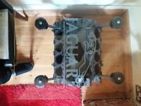 Glass Top Coffee Table - Jaguar V8 Engine Block (Similar to table on Top Gear)