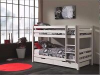 Lucas Double Wooden Bunk Bed for Children/Kids made of Solid Wood