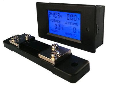 Dc Digital Panel Voltmeter Ampere Meter 6.5-100v 100a 4 In1 With 50a Shunt