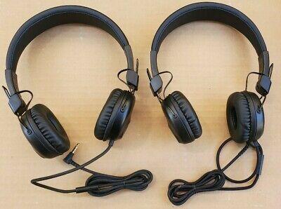 2x JLab Audio - Studio Wired On-Ear Headphones - Black