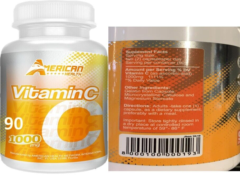 Vitamin C High Absorption Supplements Immune Support fast shipping 2 bottles  1
