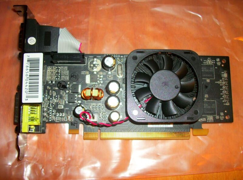Agp Video Card Fan Cooled S-video Dvi Vga Black (new)