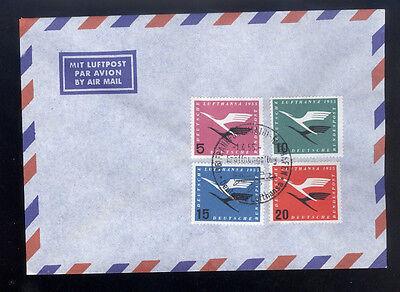 Bund / BRD  Michel Nr. 205 - 208  Lufthansa auf Brief mit Sonderstempel.