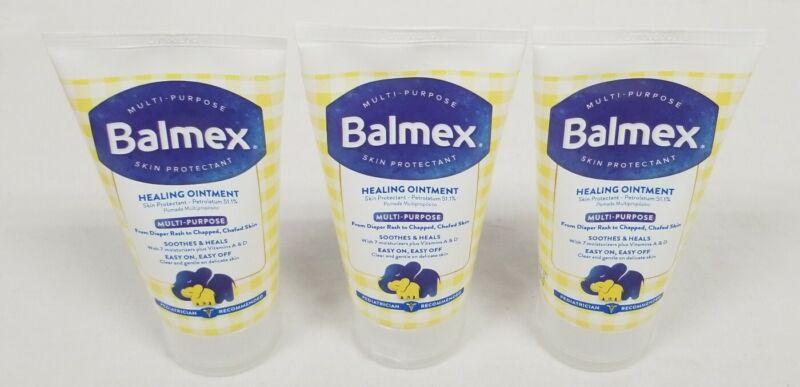 Lot of 3 Balmex Baby Healing Ointment Diaper Rash 3.5 oz Tubes New Sealed 12/22
