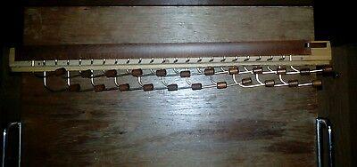 Alter Krawattenhalter Krawattenauszug Holz Made in Italy ausziehbar