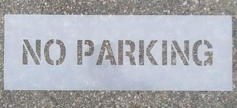 """3"""" No Parking Stencil"""