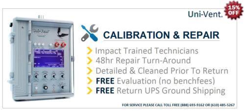IMPACT UNI-VENT 754 EAGLE VENTILATOR CLEAN, PM & CALIBRATION (SERVICE) ZOLL