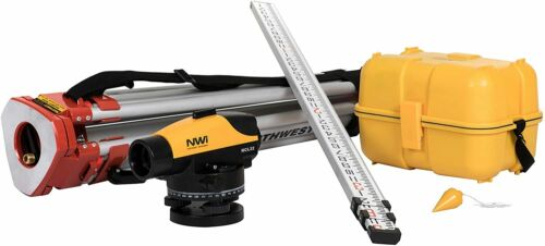 Northwest NCL 22x Auto Level Package with Tripod & Level Rod 10ths