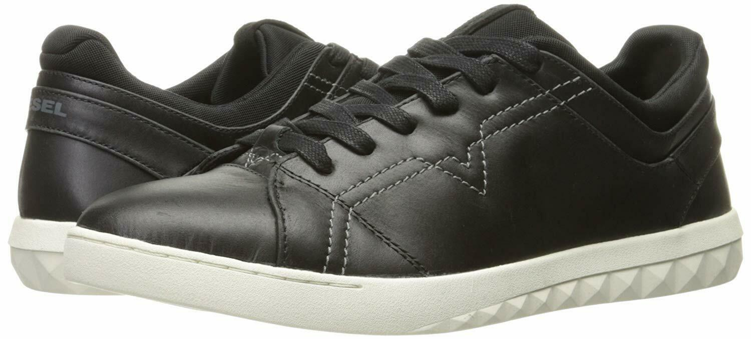 Diesel Men's Casual Shoes S-Studdzy Sneaker Leather Y01451 - PR215 - T8013 Black