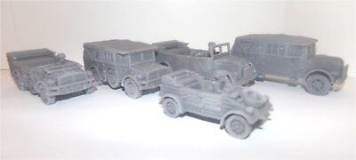 Five German Tansports 1:56 scale suitable for Bolt Action