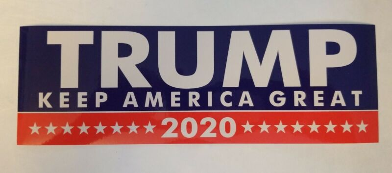 Donald Trump Bumper Sticker X 2  2020 Keep America Great USA seller
