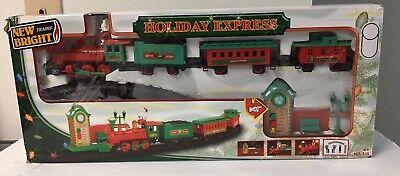 New Bright Holiday Express Musical Train Set No.175 Santa IOB Christmas