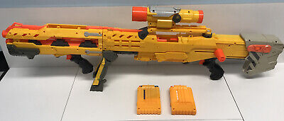 NERF LONGSHOT CS-6 Dart Gun Sniper Rifle- Blaster Scope - TESTED WORKS