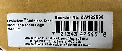 ProSelect Stainless Steel Modular Kennel Cage Medium ZW122530 Dog Cat Pet Crate