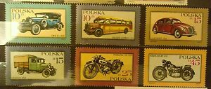 POLAND STAMPS MNH Fi2944-49 Sc2798-03 Mi3092-97 -Cars and motorcycles,1987,clean - <span itemprop=availableAtOrFrom>Reda, Polska</span> - POLAND STAMPS MNH Fi2944-49 Sc2798-03 Mi3092-97 -Cars and motorcycles,1987,clean - Reda, Polska