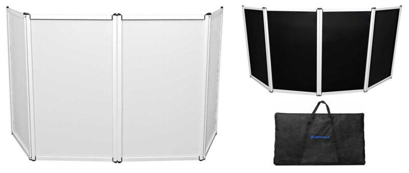 Rockville DJ Event Facade Light Weight Metal Frame Booth w/Black+White Scrim+Bag