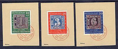 BRD 1949 Mi# 113-115 auf Briefstück FDC REPLICA, Fälschung