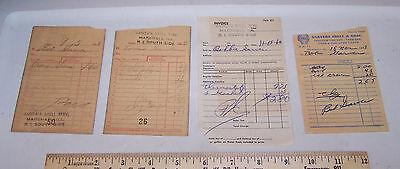 4 - 1960 & 1961 GARVER'S SHELL SERVICE Receipts MARSHALL ILLINOIS