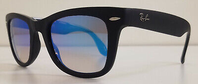New Authentic Ray Ban Folding Wayfarer Sunglasses RB4105 Black 60694O Size (Ray Ban Wayfarer Folding Blue)
