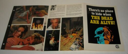 1972 The DEAD ARE ALIVE COLOR HORROR MOVIE ADVERTISING BROCHURE SAMANTHA EGGAR