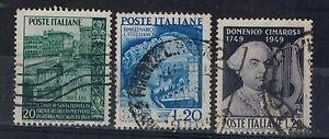 R43-REPUBBLICA-1949-n-3-francobolli-n-613-614-615