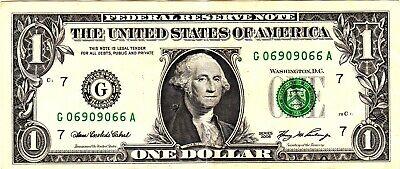 1 2006 Fancy Serial G06909066A - $2.50