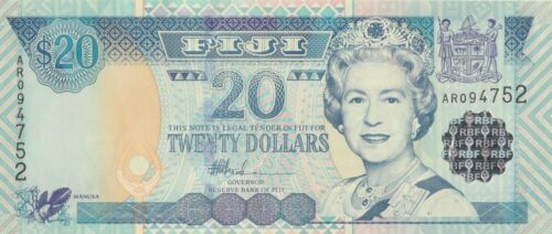 6 NOTES 2002 FIJI 20 DOLLARS P 107 UNC