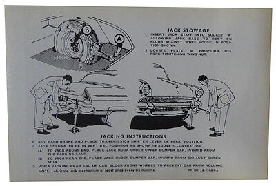 1958 Lincoln Jack Instructions Decal