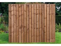 Standard Feather Edge Fence Panel, Pressure Treated 6X6