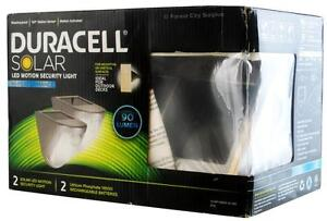 DURACELL SOLAR POWERED MOTION ACTIVATED OUTDOOR SECURITY LIGHTS - No Wiring Required