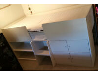 White NEXT Cabin Bed with storage space
