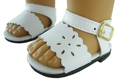 Doll Clothes fits American Girl White Summer Sandals Shoes A