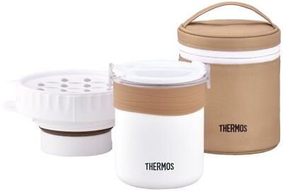 THERMOS Boiled Rice Lunch Box Rice Can Be Cooked JBS-360WH White