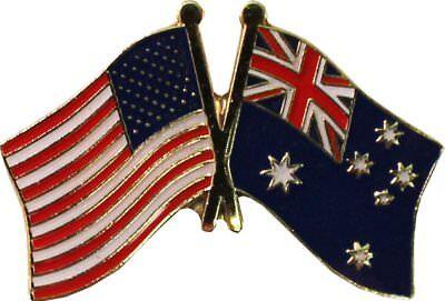 Wholesale Pack of 50 USA American Australia Friendship Flag Hat Cap lapel Pin