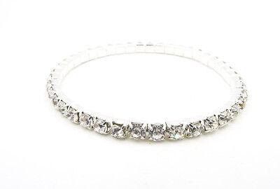 New Single Row Rhinestone Crystal Tennis Bracelet #1RB ()