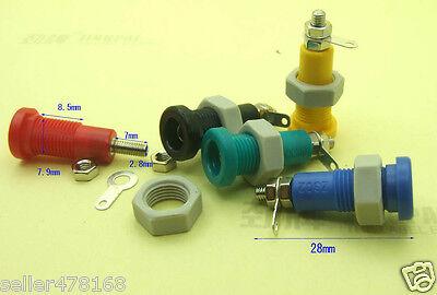 5pcs 5 Color 3mm Banana Socket Panel Mount For Binding Post Probe Meter Powers
