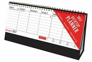2017 | Easy Flip Week To View Desk Top | CALENDER | Stand Up Office Home Planner