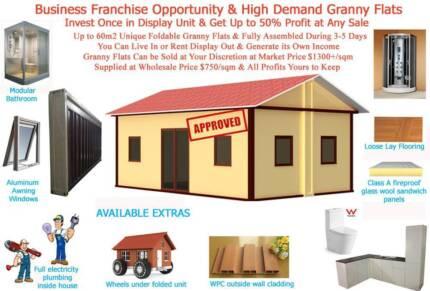 Granny Flat Franchise Australia wide Business Opportunity 50%+