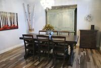 Solid Wood Furniture: Trestle Dining Table by LIKEN