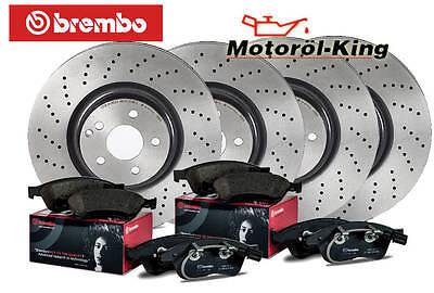 Brembo Bremsscheiben gelocht + Beläge AUDI A4 (8K2, B8) VA 314MM + HA 300MM