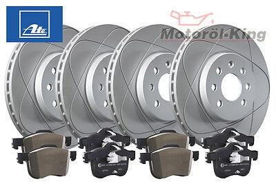 ATE Power Disc Bremsscheiben + Bremsbeläge AUDI A3 (8P1) VA 312MM + HA 272MM