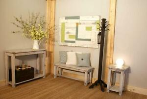 Entryway Console Table - Choice of Size and Color - by LIKEN Woodworks