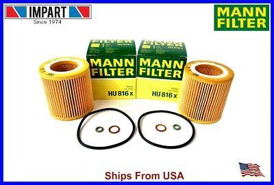 BMW 2 Oil Filter 11 42 7 541 827 MANN HU816x  Qnt. 2