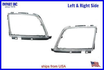 - Mercedes Headlight Door Trim Ring Bezel W129 Both Left & Right