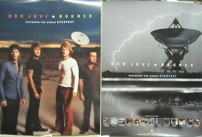 Bon Jovi 2002 Bounce 2 sided BIG promotional poster Flawless New Old Stock