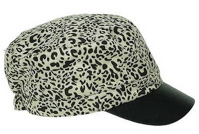 New NWT Collection 18 Hat Newsboy Cabbie Cap Military Cadet Animal Print Ivory