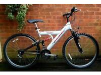 "Raleigh Max bike,dual suspension,26""wheels,18 speed"