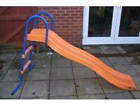 Blue and orange slide